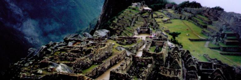 Looking down on Machu Picchu, Peru