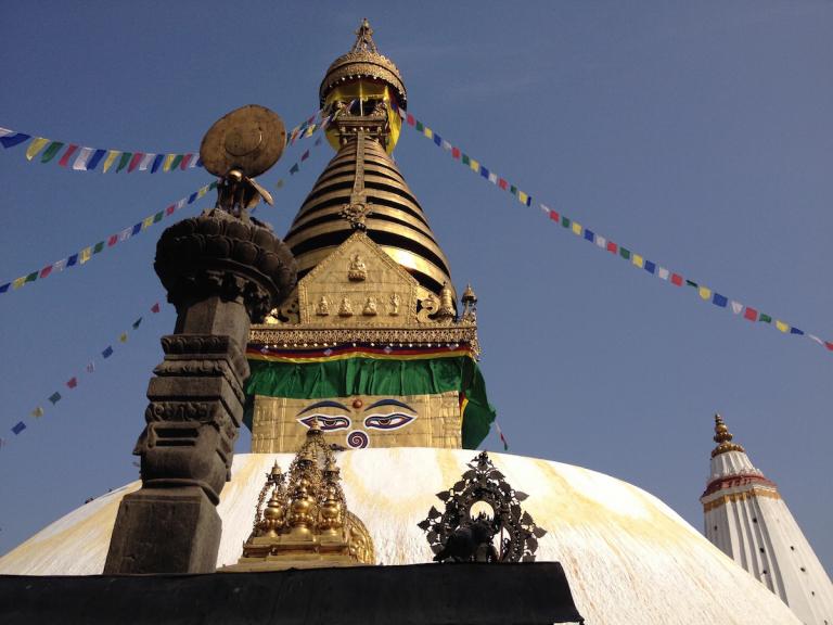 The stupa at Swayambunat