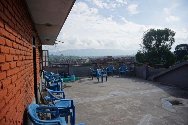 Empty outside terrace at Bhaktapur Nepal