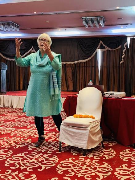 Trish presenting in India